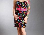 Multi Color Star Dress Pinup Rockabilly