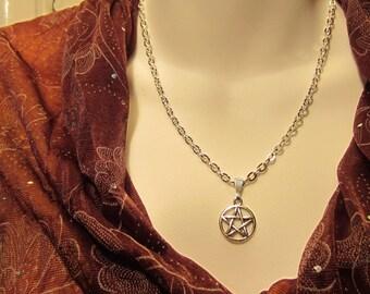 Pentacle Pentagram Necklace, Pagan Wiccan Wear,  Ritual Wear Jewelry