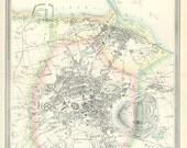 RESERVED LISTING Edinburgh 1865. City Map of Edinburgh - Digital Download