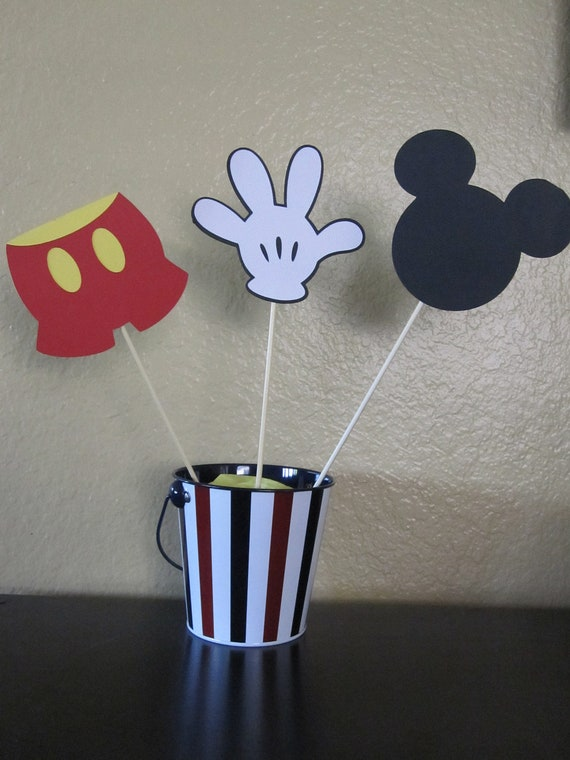 Mickey Mouse Centerpieces Set of 3 by DK DeleKtables ...
