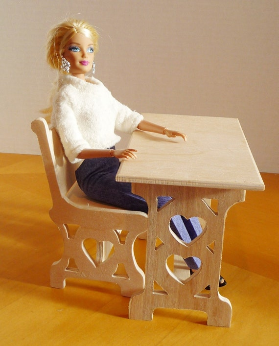 Barbie Unfinished Furniture Monster High Desk And Chair