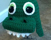 Alligator Dinosaur Beanie PDF pattern