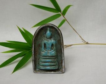 Ceramic Buddha Amulet / unique gift / home decor / ooak / buddha collectible / buddha collector / good luck / karma / zen