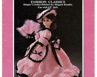 "Lilly Fashion Classics 15"" Fashion Doll Crochet  Pattern Fibre Craft  FCM169"
