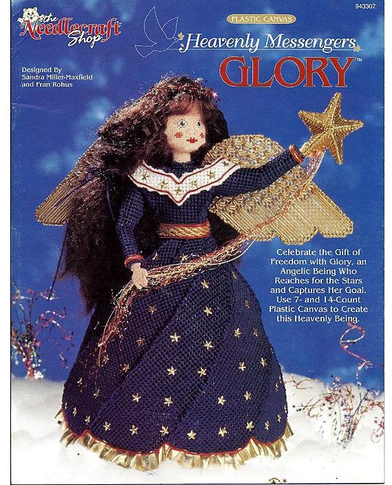 Glory Heavenly Messengers Angel Series Plastic Canvas Pattern Book  The Needlecraft Shop 943307