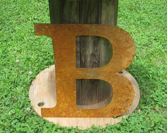 "Big Metal letter ""B"".  An original, one of a kind, handmade item from Screaming Horse Iron Works."