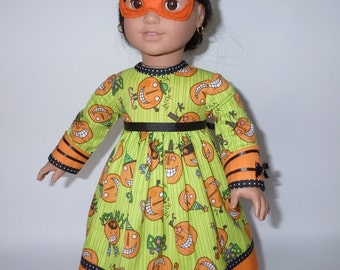 "Halloween party dress and mask for your 18"" American Girl dolls"