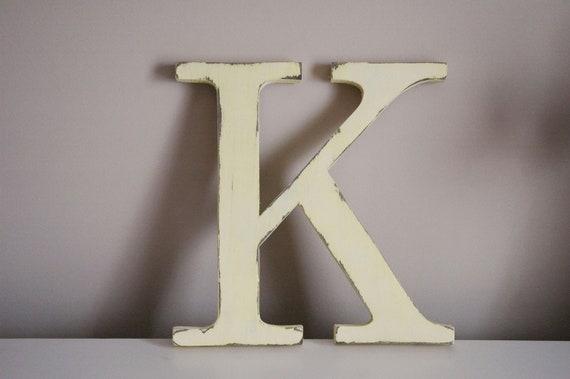 Wooden Letter Monogram Custom Letter Home Decor Photo Prop Initial