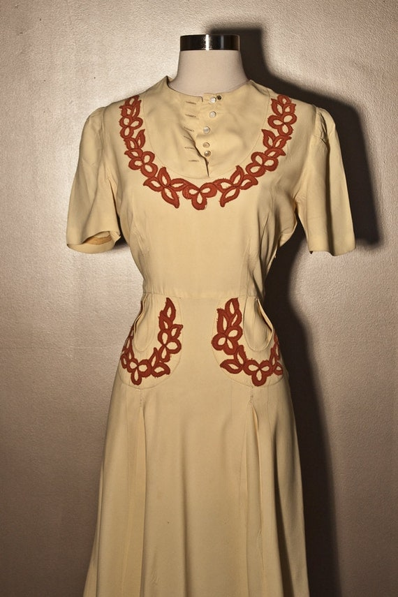 1940s Country Western Cowgirl Dress