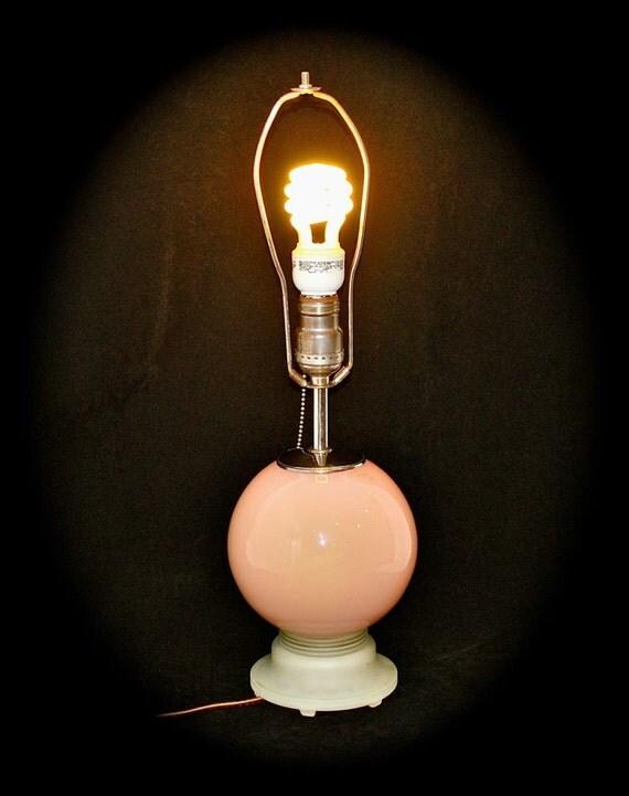 Aladdin Lamp G - 24 1935 in Rose Moonstone Glass, Original Paper Sticker