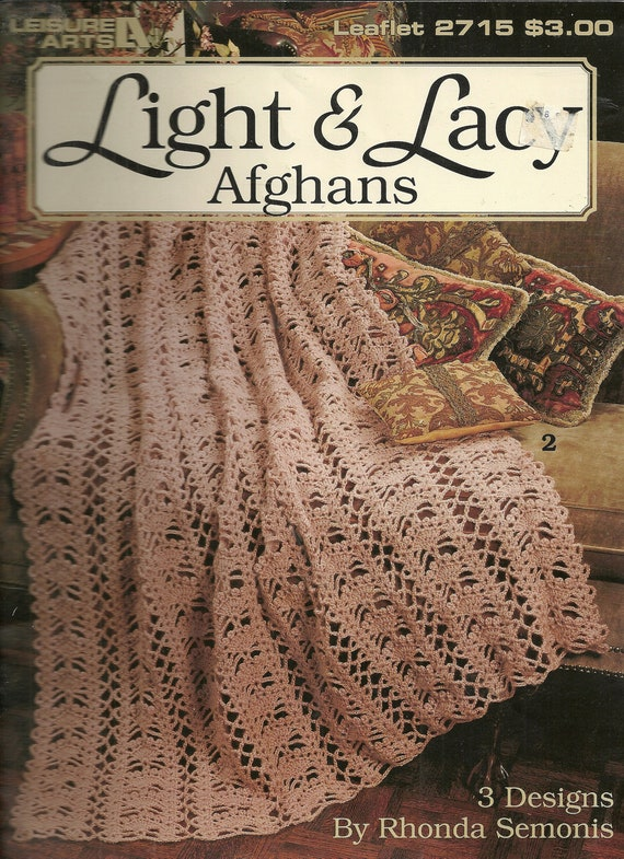 Light & Lacy Afghans to Crochet Leisure Arts 2715
