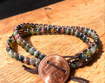 Penny for Your Thoughts Jasper Wrap Bracelet