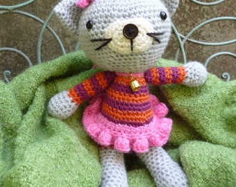 Kitty Kat  - Amigurumi Cat Crochet Pattern