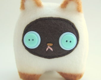 Sammy the Siamese Kitty: Tiny, Happy Plush Stuffed Kitten Cat