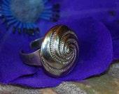 RING EYECATCHER Stunning Silver Nice Cute Metal Alloy Elegant Boho Chic