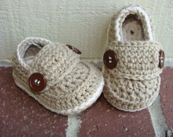 Crochet Pattern For Baby Lovey : Baby LoafersNewborn Baby Bootiescrochet Baby Booties Baby