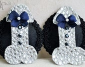 Mature Rhinestone Penis Pasties for Bachelorette and Gag Gifts- Made to Order