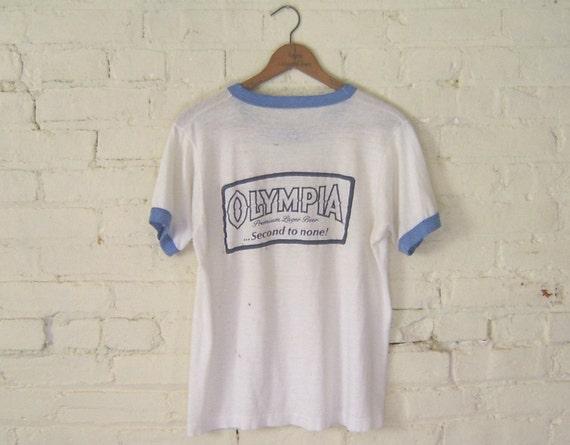 vintage olympia beer t shirt mens m. Black Bedroom Furniture Sets. Home Design Ideas