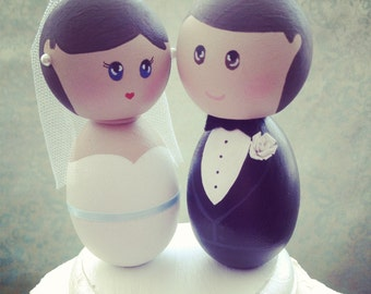 Custom Simple and Cute Wedding Cake Toppers