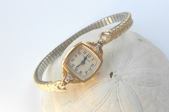 vintage hamilton 14k solid gold ladies watch w by bebeandkay