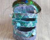 Felt Cuff Bracelet Feather Cuff Bracelet - moonstones