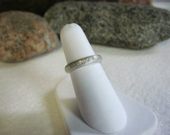 Rustic Silver Wedding Bands Rings, Thumb Rings, Toe Rings, Size 6 Silver Band Rings Men Womens Wedding Rings