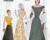 Butterick 6409 RETRO 1948 Evening Gown DressPattern Sizes 12, 14 & 16   c. 1999
