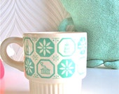 Vintage Mint Patterned cup mug