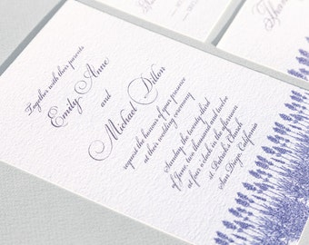 Lavender Wedding Invitation Suite