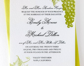 Wine Country Wedding Invitation Suite