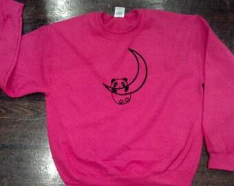 Panda On a Crescent Sweatshirt