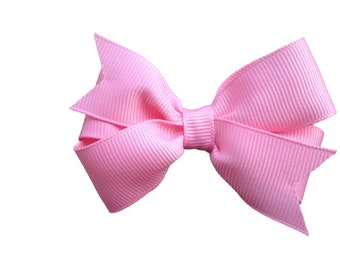 3 inch pink hair bow - pink bow, baby bow, toddler bow, pinwheel bows, girls hair bows, pink hair bows, girls bows, baby bows