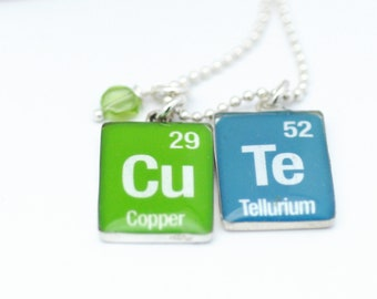 Periodic Table Necklace | Geekery Nerdy Necklace | Chemistry Jewelry | Personalized Periodic Table Elements Jewelry