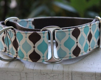 "Kane's Blue Geo 1.5"" Martingale Collar"