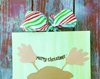 Reindeer Handprint Footprint Kit 8x10
