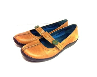Vintage Leather Mary Janes 7.5 - Chestnut Leather Mary Janes 7.5