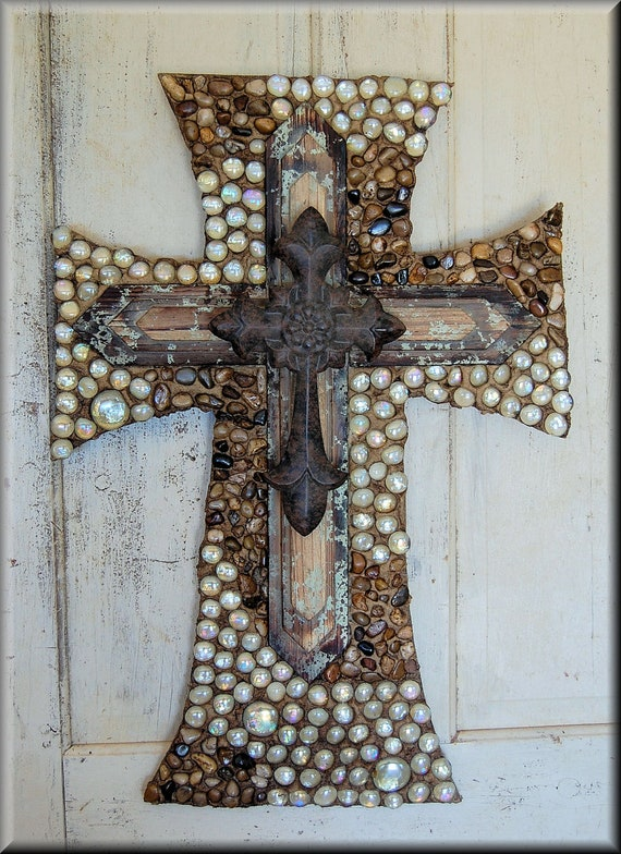 items similar to wall cross cross decorative wall cross religious cross wedding gift on etsy - Decorative Wall Crosses