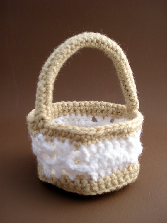 Woven Basket Crochet Stitch : Items similar to crocheted easter basket weave stitch on