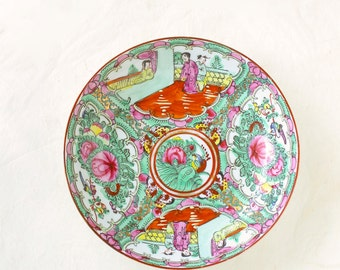 Vintage Chinese Rose Medallion Serving Plate ACF Chinese New Year