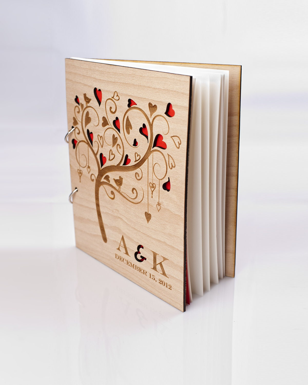 Wedding Photo Books Uk: Custom Wood Wedding Guest Book Wedding Present Christmas