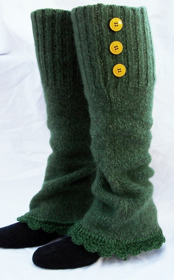Wool leg warmers recycled bulky sweater womens accessories