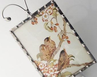 Bird Night Light - Vintage Image Nightlight - Wall Light - Nursery Night Light - Home Accessory N66