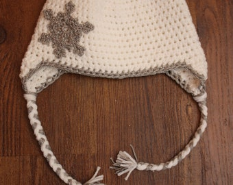 Snowflake Earflap Hat