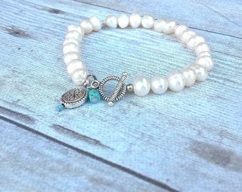 Pearl Bracelet, Wedding Bracelet, Bridesmaids Gift, Freshwater Pearls Bracelet, Western Wedding Jewelry, Cowgirl Bracelet, Gift for Her