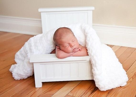 "White Baby Blanket Photography Prop Newborn Photo Prop White Baby Wrap Baby Swaddler Baby Girl Baby Boy 33"" x 33"" Newborn Baby Blanket Soft"