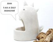 Ceramic Monster Salt Cellar Sculpture Foodie Fun Unique Kitchen Ware MADE TO ORDER
