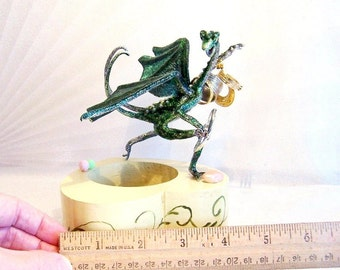 Baby Dragon Hector, Starting a Hoard: Devils Claw Dragon Art Doll