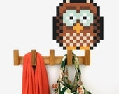 Owl Wall Decal Glow in-the-dark - Puxxle - The Pixel Puzzle