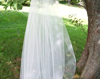 Custom Fingertip Length Wedding Veil Made to Order 1 Tier Cut Edge