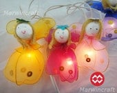 20 Fantasy Angel Cute Art Multi Colour Fairy Lights String 10 FEET or 3 Metres Long  Party Patio Wedding  Floor Table or Hanging Gift